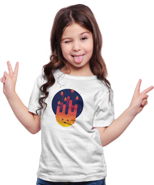 Chill Baby Smiley Flame T-shirt Home Page v3